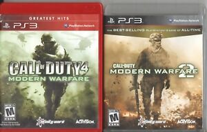 Video Game Lot - FPS 2 PACK - Call of Duty 4 / Modern Warfare 2  - PlayStation 3