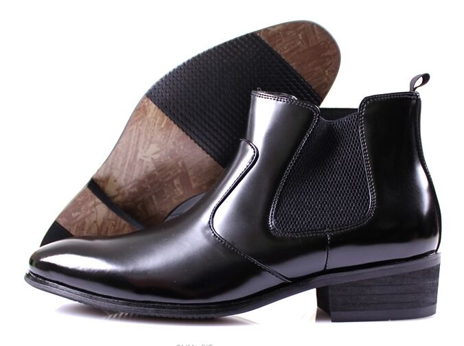 Zapatos De Cuero MOODA Hombres botas al Tobillo Oxfords Vestido Formal Informal Sin Cordones Negro Marrón