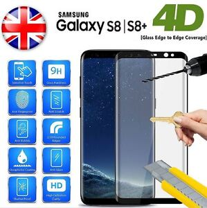 Full 4D Tempered Glass Screen Protector For Samsung Galaxy S8 S8 Plus Note 8