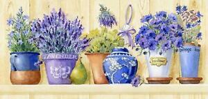 Grafitec-Bedruckt-Wandteppiche-Nadelspitze-Leinen-Lavendel-Toepfe