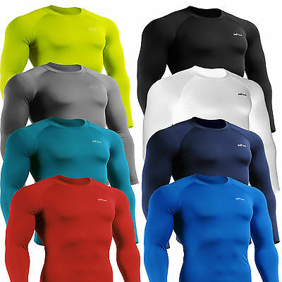 EMFRAA Mens Womens Compression skin tight  shirts Sports Base layer Top S~2XL