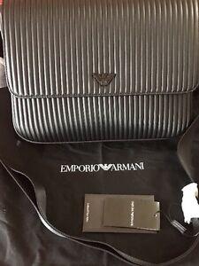 Final-Sale-Authentic-Emporio-Armani-Milano-Flap-Leather-Messenger-shoulder-Bag