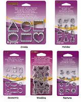 Mini Metal Clay Cutters Choose Holiday Wedding Geometric Nature Crinkle Cookie