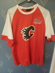Calgary-Flames-Molson-Beer-Youth-XL-Shirt-Jersey