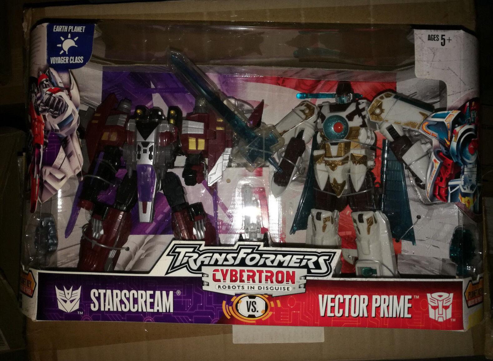 Transformers Cybertron Voyager Vector Prime et Starscream bon Paquet Hasbro