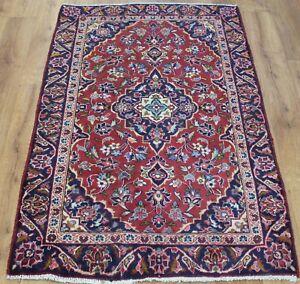 Image Is Loading Persian Traditional Vintage Wool 132cmx 88cm Oriental Rug