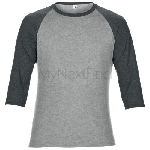 Anvil Adult Triblend 3//4 Sleeve Raglan T-Shirt