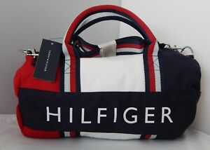 New Tommy Hilfiger Kids Mini Gym Signature Duffle Bag Red White Blue