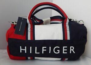 NEW Tommy Hilfiger Kids Mini Gym Signature Duffle Bag Red White ... e3f206a61cd48