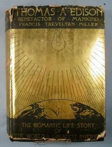Thomas-A-Edison-Benefactor-Of-Mankind-Vintage-Book-Francis-Miller-Date-1931-O