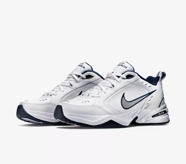 Neu Nike Herren Weiß Luft Monarch IV Athletic Kreuz Training Laufschuhe