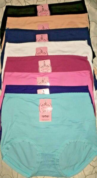 5 Damen Slips mit höheren Bund, mit Bauchweg Zone Soft Touch Baumwolle 90 %