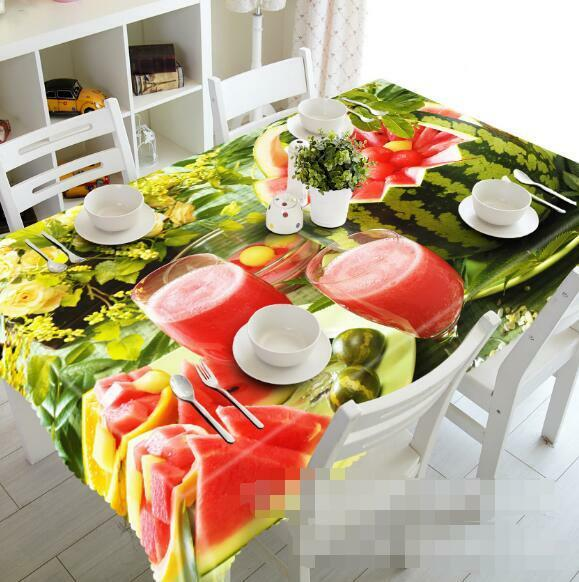 3D Juice 818 Tablecloth Table Cover Cloth Birthday Party Event AJ WALLPAPER UK