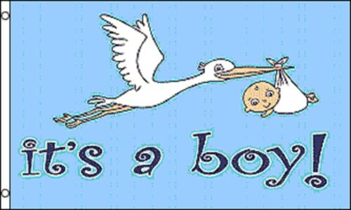 Congratulations New Baby Boy Welcome Home Banner 5/'x3/' Flag !