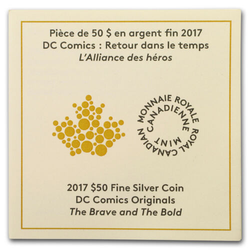 SKU#153368 The Brave and the Bold 2017 Canada 3 oz Silver $50 DC Comics