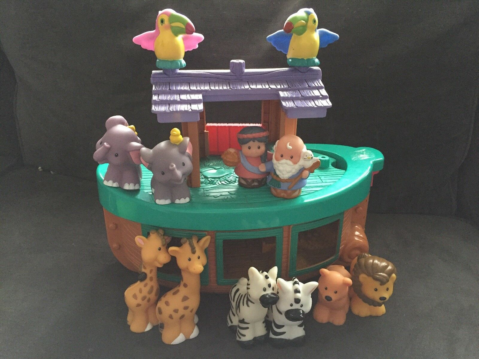 Little People NOAH'S ARK Playset with with with 16 Animals FISHER-PRICE 2002 74ff99