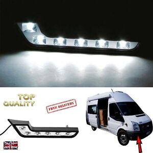 Motorhome-Camper-2-x-Bright-White-12v-DC-6-LED-Daytime-Running-Light-SELF-BUILD