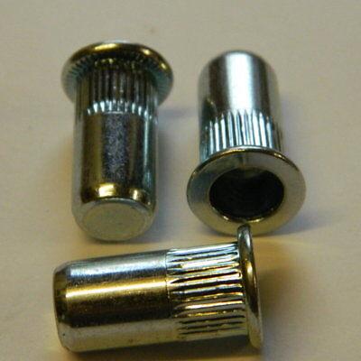 Heimwerker 10 Edelstahl A2 Blindnietmutter M6 Flachkopf Gerändelt Geschlossen 0,5-3,0mm