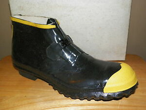 Nib Mens Ranger Rubber Steel Toe Waterproof Boots Szs 7 9