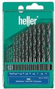 Heller-13-Piece-HSS-R-Metal-Drill-Bit-Set-2mm-8mm-Rolled-Jobber-German-Tools