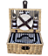 Handy-two-person-fitted-picnic-hamper-basket-with-cooler miniatura 1