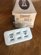 NEW OLD STOCK VINTAGE Leviton Bakelite Surface Mounting Outlet 15A 125V