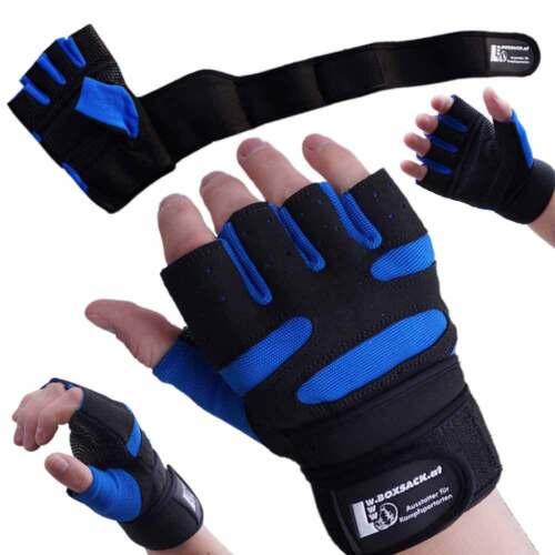 Farbe Schwarz-Blau 1 Paar Gewichtheber Trainings Handschuhe