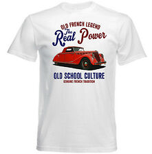 VINTAGE FRENCH CAR RENAULT VIVA GRAND SPORT REAL POWER - NEW COTTON T-SHIRT