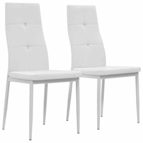 Chaise de salle à manger 2 pcs Cuir artificiel 43x43,5x96 Blanc