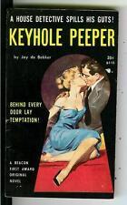 KEYHOLE PEEPER by de Bekker, rare US Beacon #B110 sleaze gga pulp vintage pb