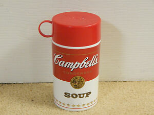 Campbells Soup Can-Tainer Insulated Thermos type Collectible with Cup & Lid