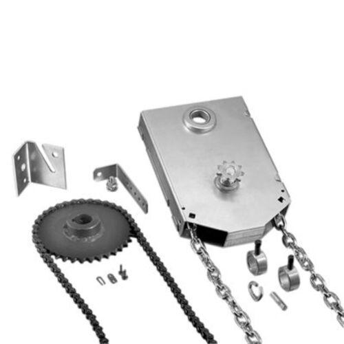 """Jr Jackshaft 4:1 Reduced Drive Shaft Mount Garage Door Chain Hoist 1/"""""""