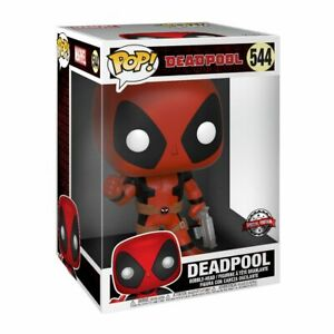 MARVEL-Figurine-DEADPOOL-RED-THUMB-UP-N-544-SUPER-SIZED-25-cm-034-POP-034-FUNKO