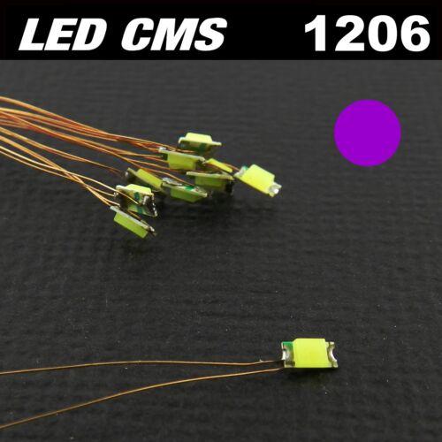 prewired rose fil émaillé 5 à 20pcs C116# LED CMS pré-câblé 1206 violet