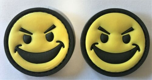 2 Patches Evil Happy Face PVC Patch Hook /& Loop SEAL Recon SF 63