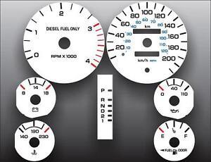 1994-1997-Dodge-Ram-200-METRIC-KPH-KMH-Dash-Instrument-Cluster-White-Face-Gauges