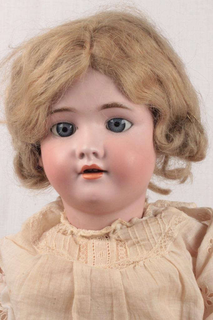 Antigua victoriana Antique Victorian alemán Dep HANDWERCK Halbig cabeza de Biscuit muñeca cuerpo Original 27