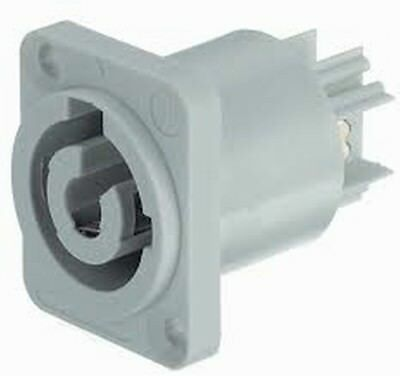 25 Pack Neutrik NAC3MPB-1 Powercon Receptacle Power Out Gray Rated 20A//250V AC