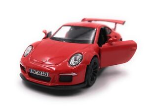 Porsche-GT3-Rs-Sports-Car-Model-Car-With-Desired-License-Plate-Red-Scale-1-3-4