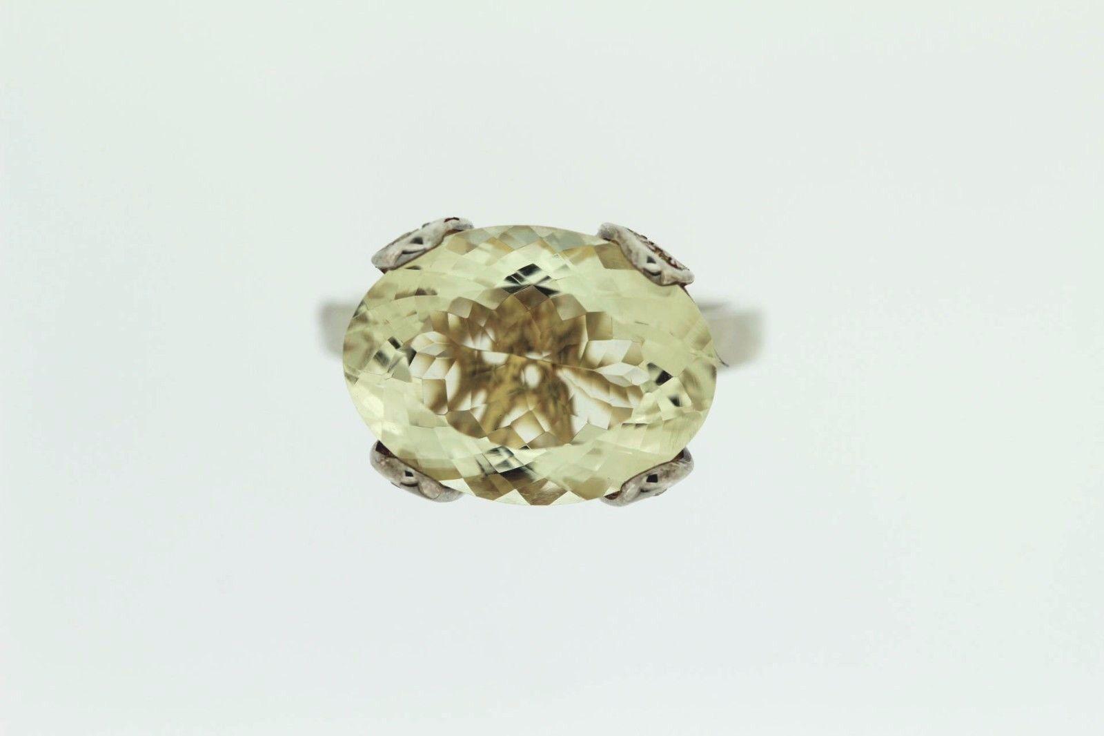 925 Orthoclase   White Topaz Ring ( 9.75 cts)