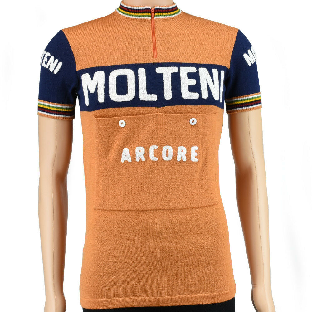 Molteni vintage style merino wool cycling jersey jersey cycling - VV Classics 9604dd
