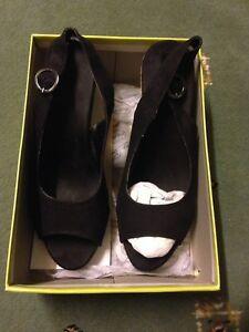 Black Compensé et Uk En Beige Chaussures 6 Taille Femme Talon Daim Graceland fvwqdCf