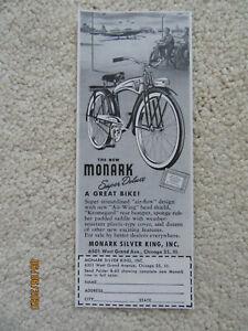 1948 Original Ad - Monark Silver King Super Deluxe Bicycle