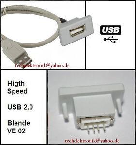 USB-Einbaubuchse-einbausteckdose-Buchse-50cm-MP3-passend-zu-E60-E46-E90-E30-Auto