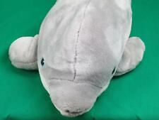 BIG SEA WORLD SEAWORLD GREY WHITE MARINE LIFE MAMMAL DOLPHIN PLUSH STUFFED SOFT