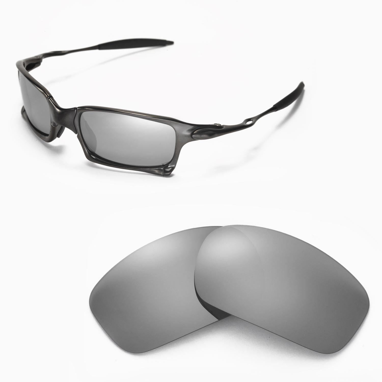27574f0174 Walleva Polarized Titanium Replacement Lenses for Oakley X-squared  Sunglasses for sale online