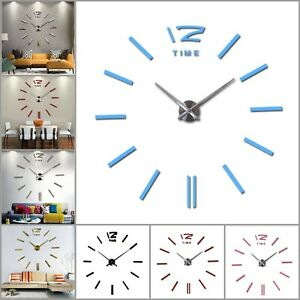 Big-Wall-Clock-Modern-Design-Living-Room-Quartz-Abstract-Pattern-Antique-Style