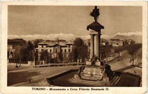 CPA-Torino-Monumento-e-Corso-Vittorio-Emanuele-II-ITALY-542772
