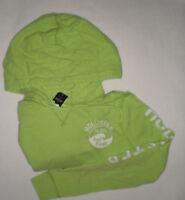 Hollister Soft Beach Sweatshirt Hoodie Green And White Small