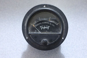 WWII era Gruen Triplett signal meter, IS-171 Signal Corps